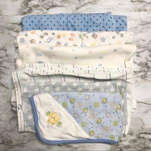 🎉Bundle 6 baby boy receiving blankets